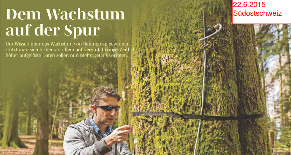 Natkon dendrometers in Swiss newspapers